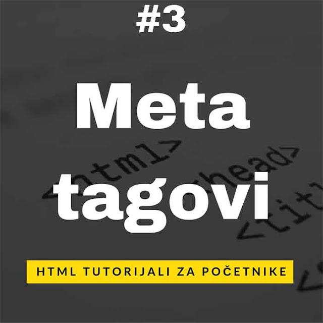 Kako dodati meta tagove
