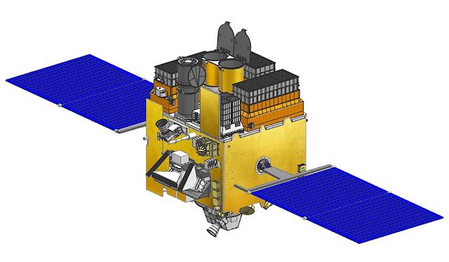 Artist's rendering of Astrosat. Image Credit: ISRO