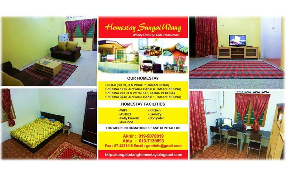 Lokasi No 3 Jalan Wira Ria 8Taman Peruna 76300 Sungai Udang Melaka Kemudahan 1 Bilik Aircond Kipas Katil Queen