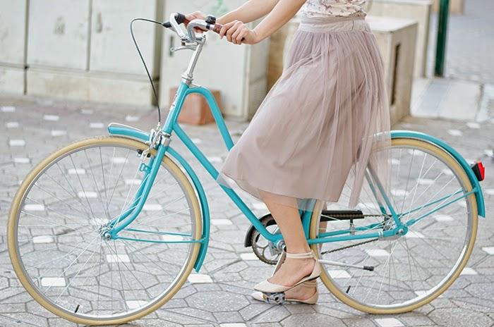Bicicle TeMe vintage bike tulle skirt