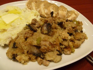 That Means We Get Pie!: Homemade Sausage and Herb Stuffing