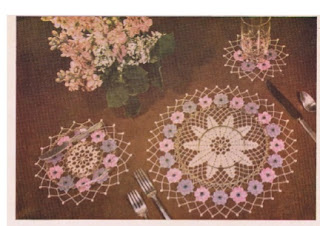 Floral doilies to crochet