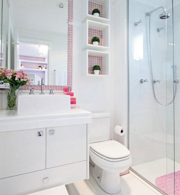 Coisas da Kátia Nichos no banheiro -> Banheiro Cm Nicho
