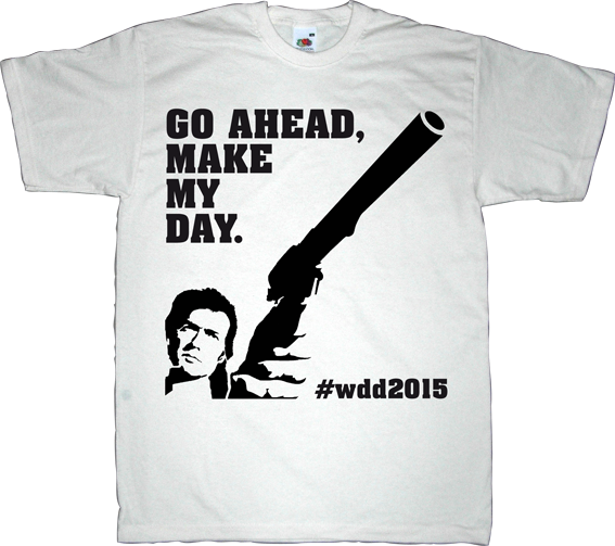 graphic design designer fun dirty harry movie clint eastwood day for everybody t-shirt ephemeral-t-shirts