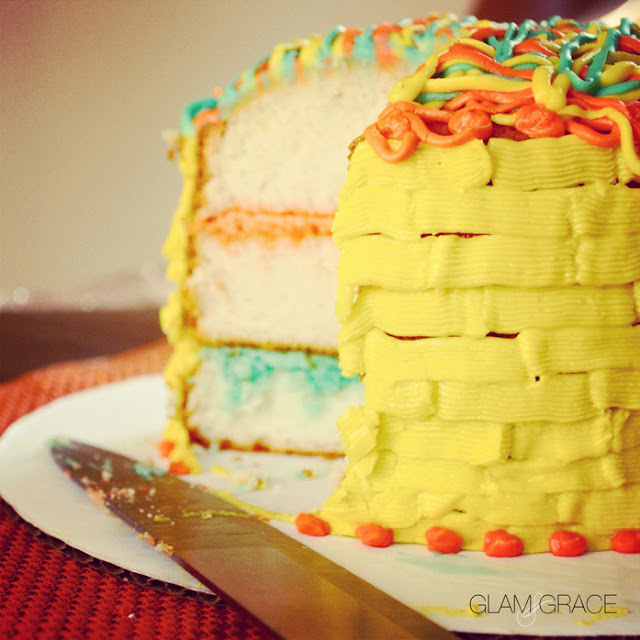 Colorful layer cake