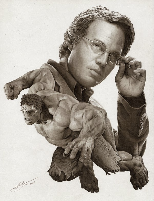 02-Mark-Ruffalo-The-Hulk-Julio-Lucas-Experimenting-with-Photo-Realistic-Drawings-www-designstack-co