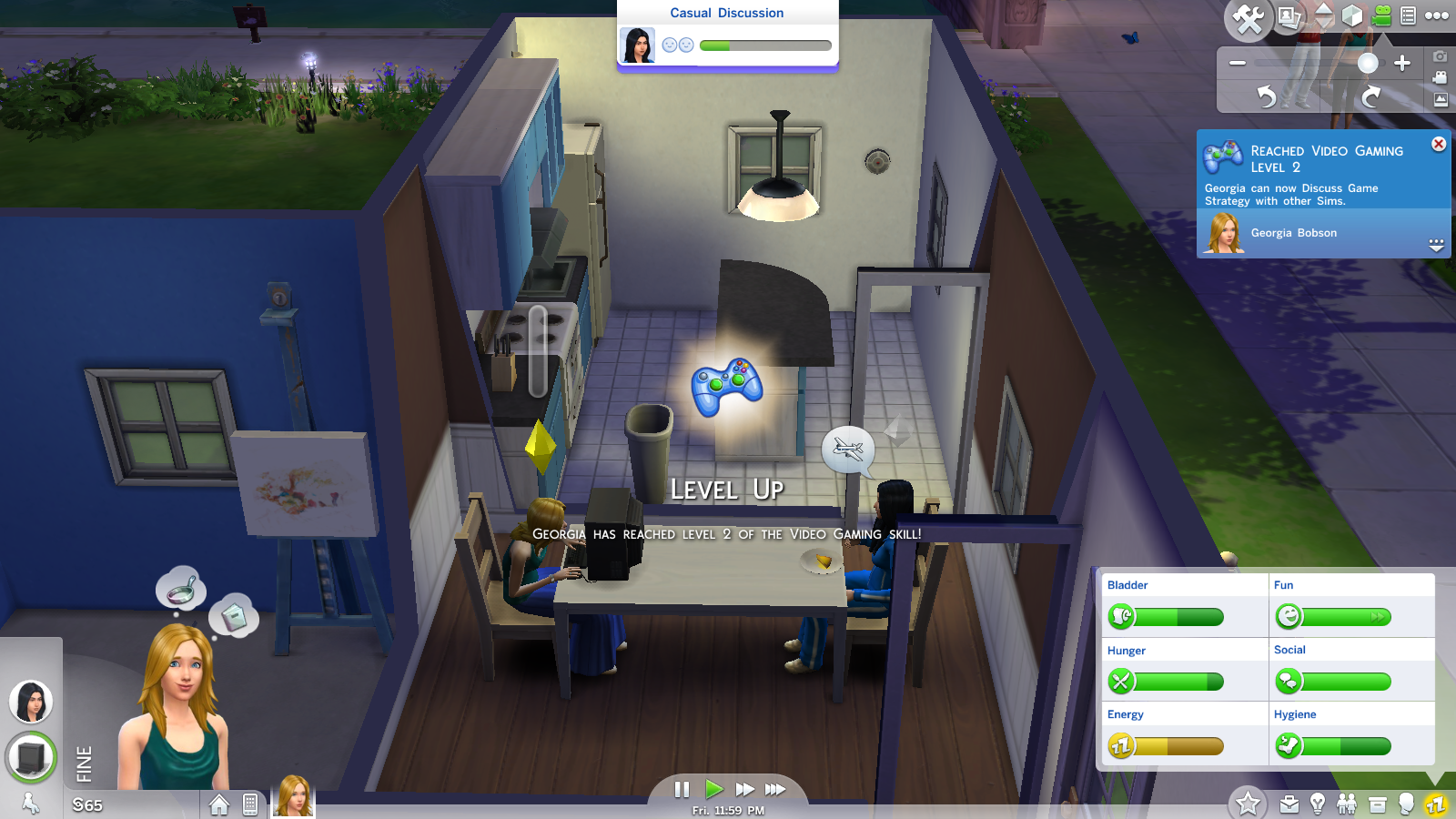 The Sims 4 multi-tasking doing two things at once