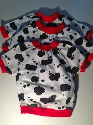 Lilly Foschino Dog Fashion Cow shirts