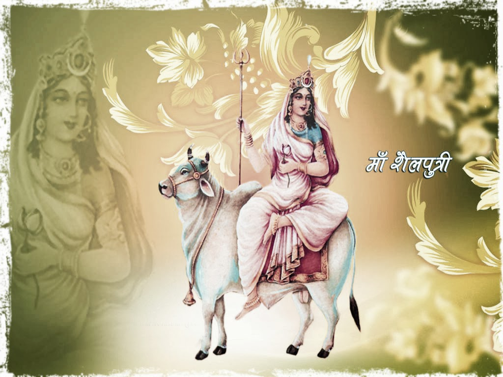 Pratipada 1 Frist Day Ghatasthapana Navratri Goddess Maa Shailputri HD Wallpapers, Images, Pictures, Photos, Vectors, Graphics, Pics, Greeting Cards