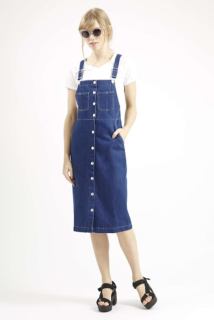 denim pinafore topshop