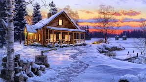 * SUNSET on the SNOW ... *