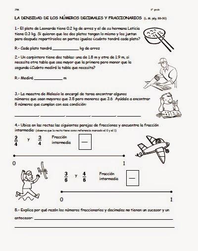 Club de tareas sexto grado (Escuela Corregidora): TAREA # 1 MATEMATICAS