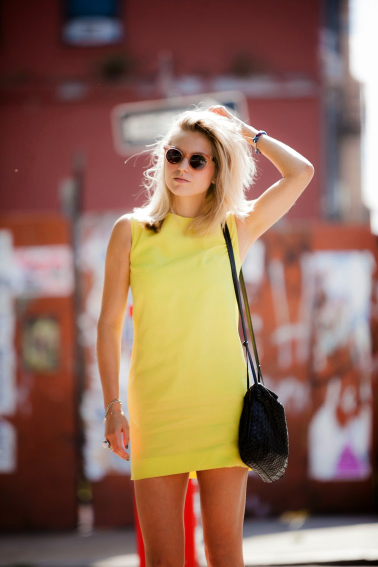 Bally yellow shift dress