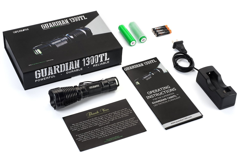 Guardian 1300TL tactical flashlight