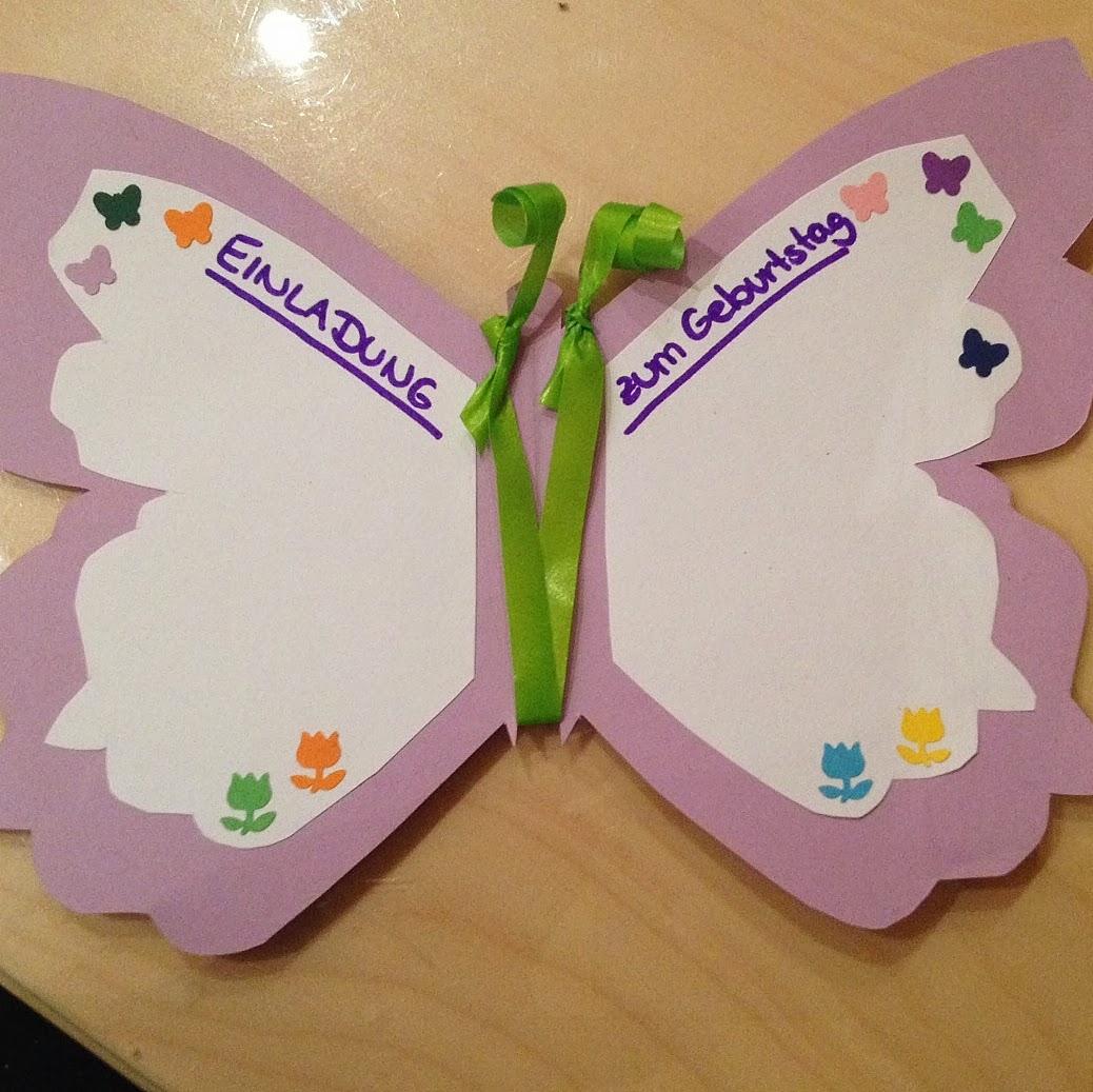 Einladungskarten Schmetterling