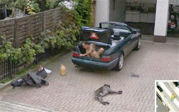 Imagens bizarras no Street View