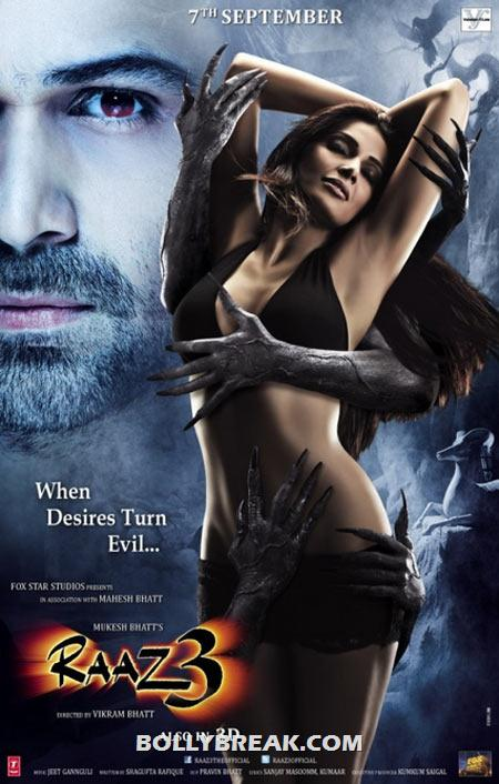 Movie poster of Raaz 3 - Which is The HOTTEST Bollywood Movie Posters of 2012? POLL