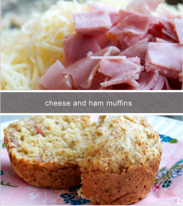 Elma's Kitchen: Ham and Cheese Muffins