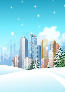 ciudad en invierno