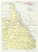Queensland Regional Map Pictures . Map of Australia Region Political