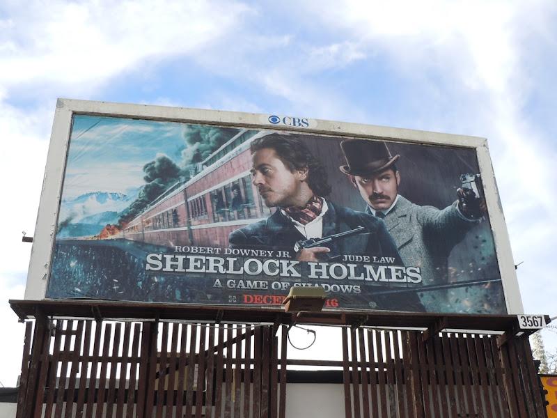 Sherlock Holmes 2 movie billboard