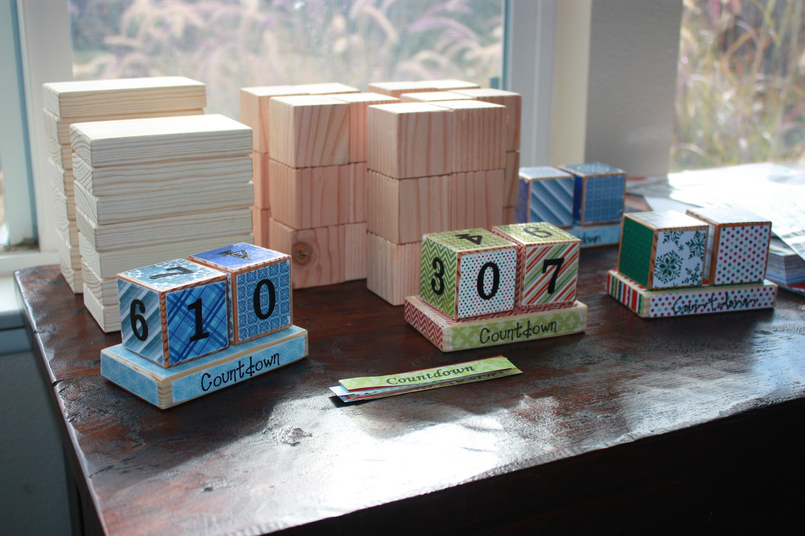 3 little things holiday pinterest party for Where to buy wood blocks for crafts