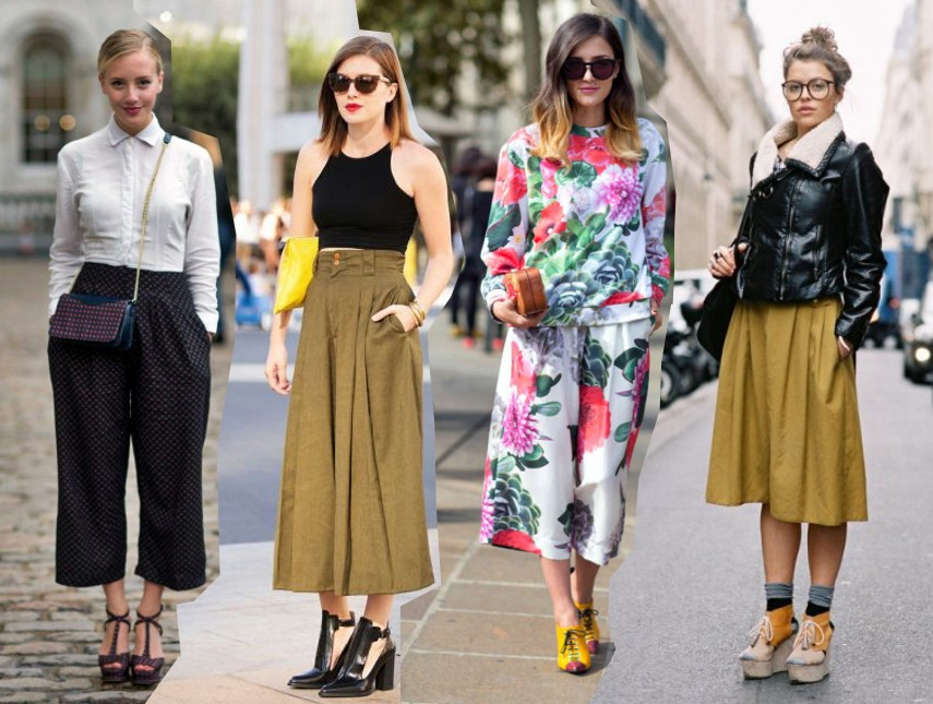 How To Wear The Culottes Pants Trend Spring 2014