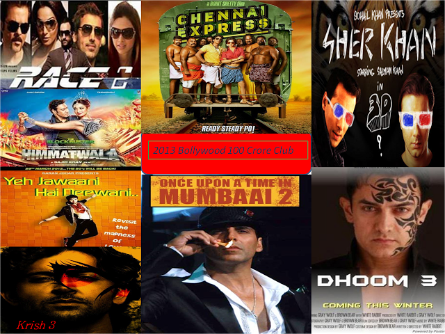 2013 bollywood 100 crore club movies bollywood movies - Box office collection of indian movies ...