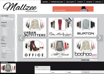 Mallzee webpage