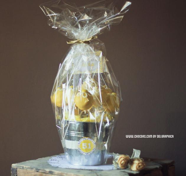 Día de la madre - roma original de flores de brownie