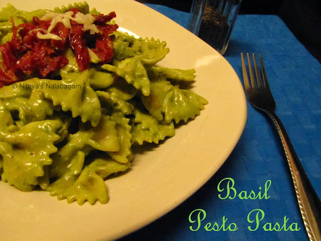 Basil Almonds Pesto Pasta