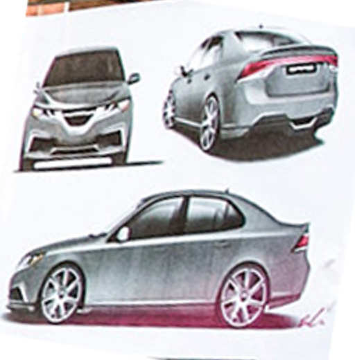 Possible electric SAAB 9-3