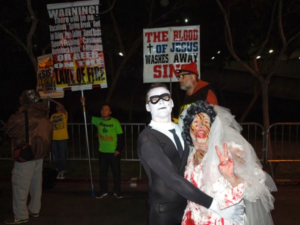 West Hollywood Halloween Carnaval Bride and Groom