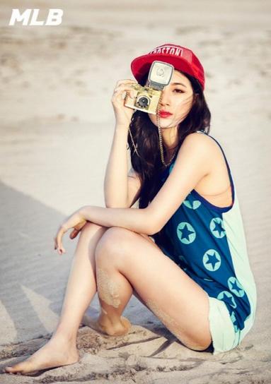 Foto Seksi Suzy Miss A Liburan di Pantai