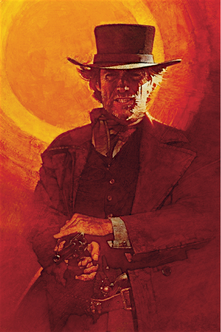 David Grove pictured Clint Eastwood as the lone gunslinger