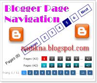 Numbered Page Navigation Tạo phân trang cho blogspot