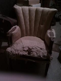 Old chair in need of repair