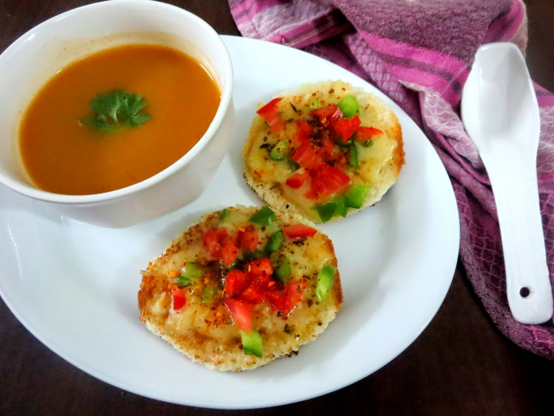 Spice your Life: Tomato Soup with Cheese toast ~ Easy Colourful dishes ...