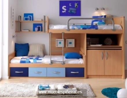 Dise os juveniles decoractual dise o y decoraci n - Habitaciones con literas juveniles ...
