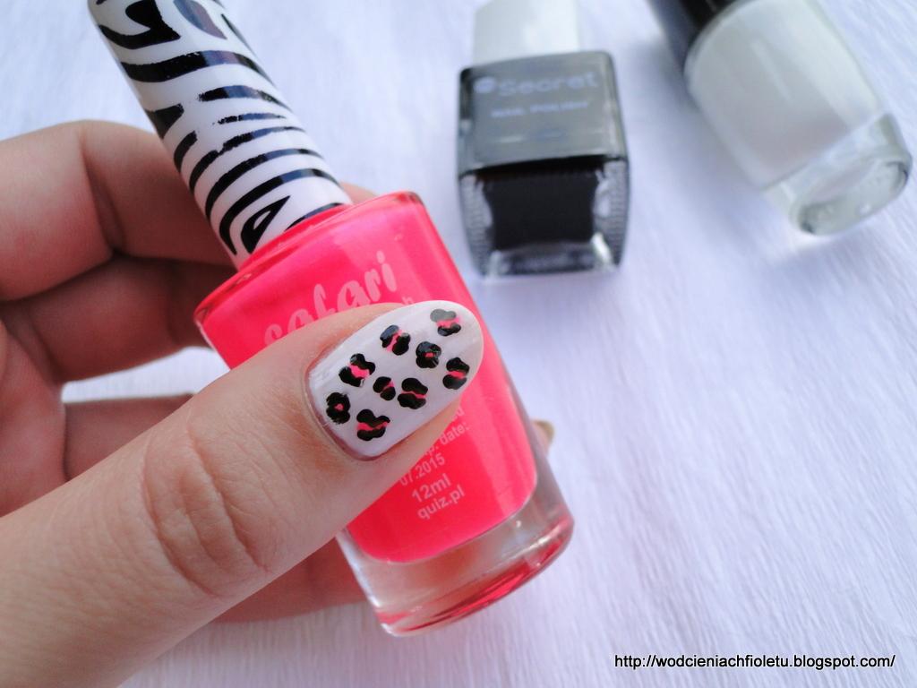 panterka na paznokciach; wzorek w panterkę