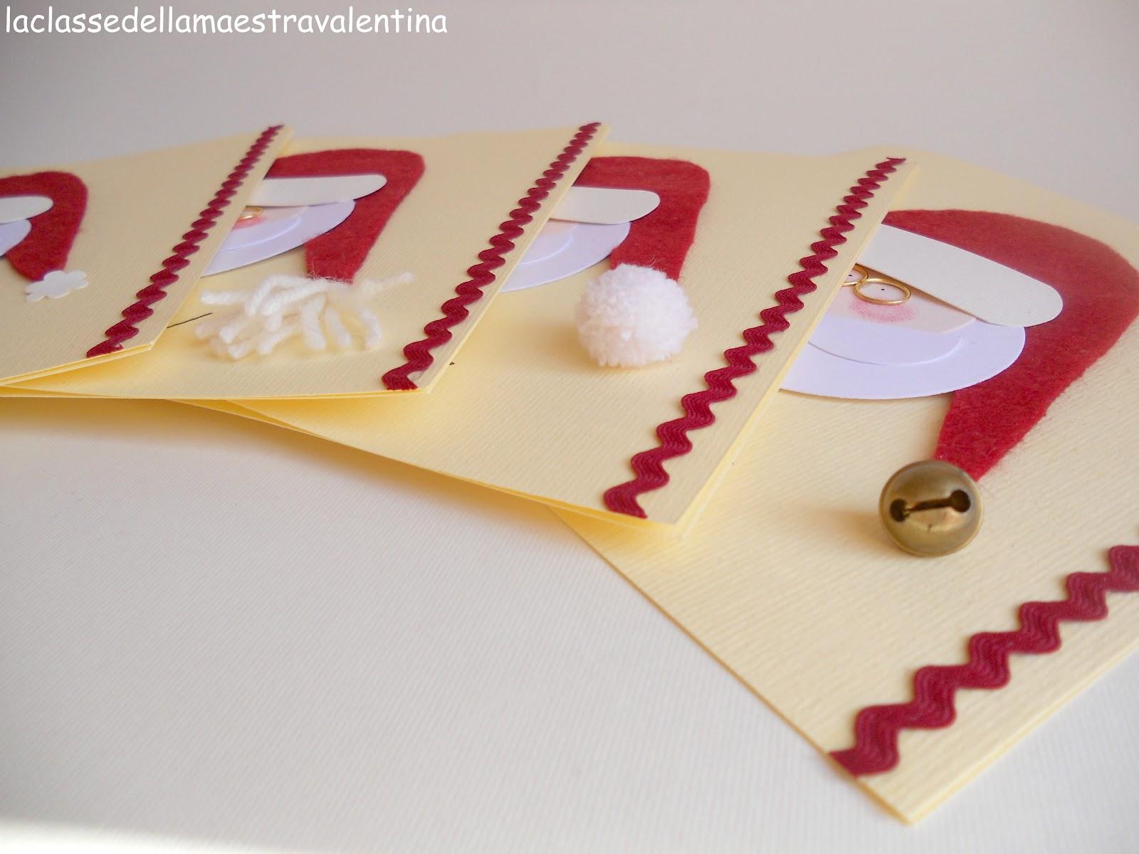La classe della maestra valentina biglietti babbo natale for Maestra gemma recite di natale