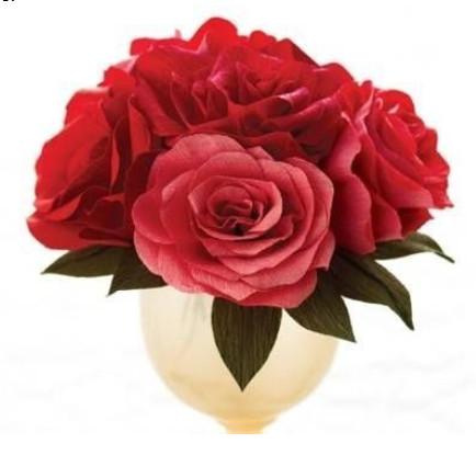 Как сделать розу из гофрированной бумаги своими
