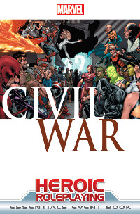 Marvel Heroic Roleplaying Game Civil War Essentials Event Book Cover