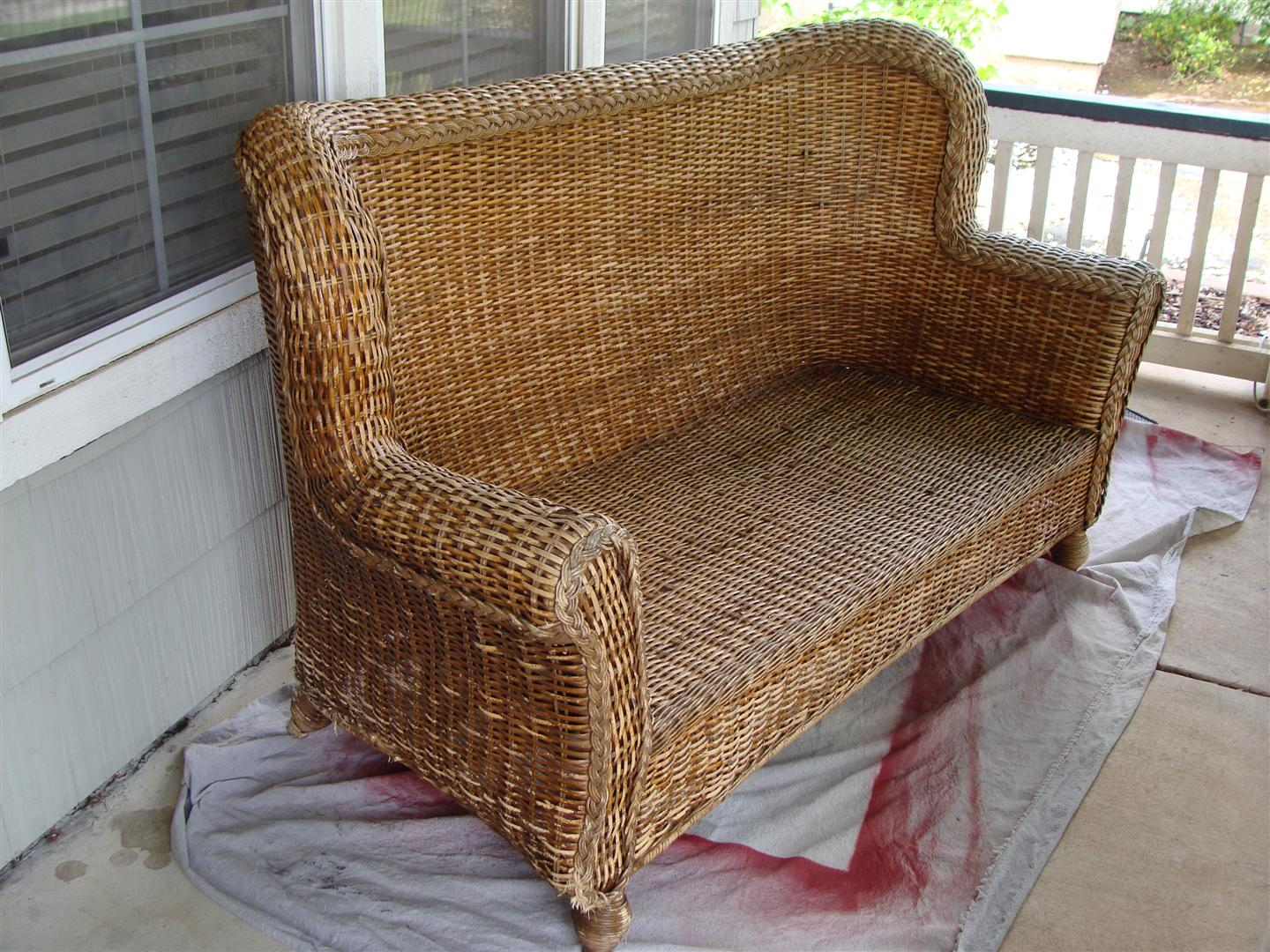 loveseat wicker inch cushion bench outdoor replacement cushions