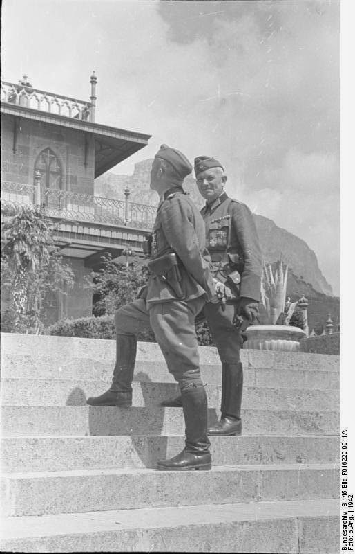 Немецкие офицеры в Ялте