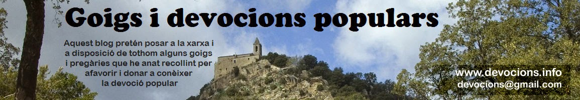 Goigs i devocions populars