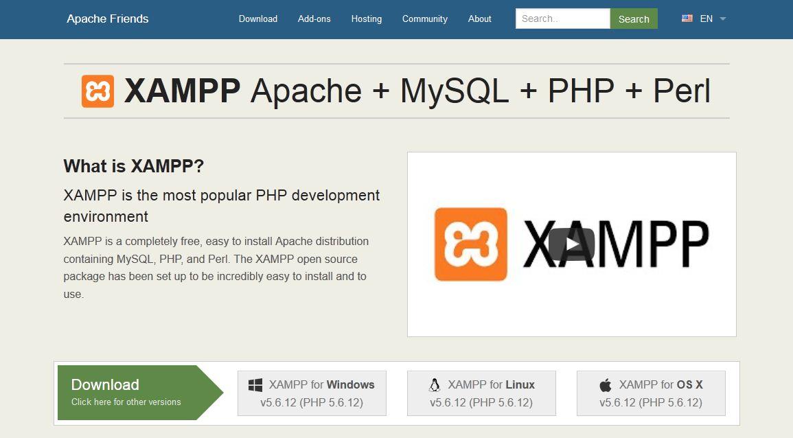 xampp-homepage
