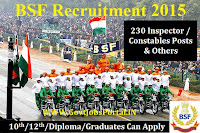 BSF Recruitment 2015