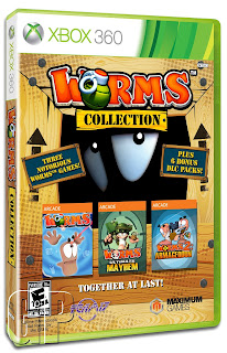 worms collection xbox 360 box art Worms Collection (360)   Retail Box Art & Press Release