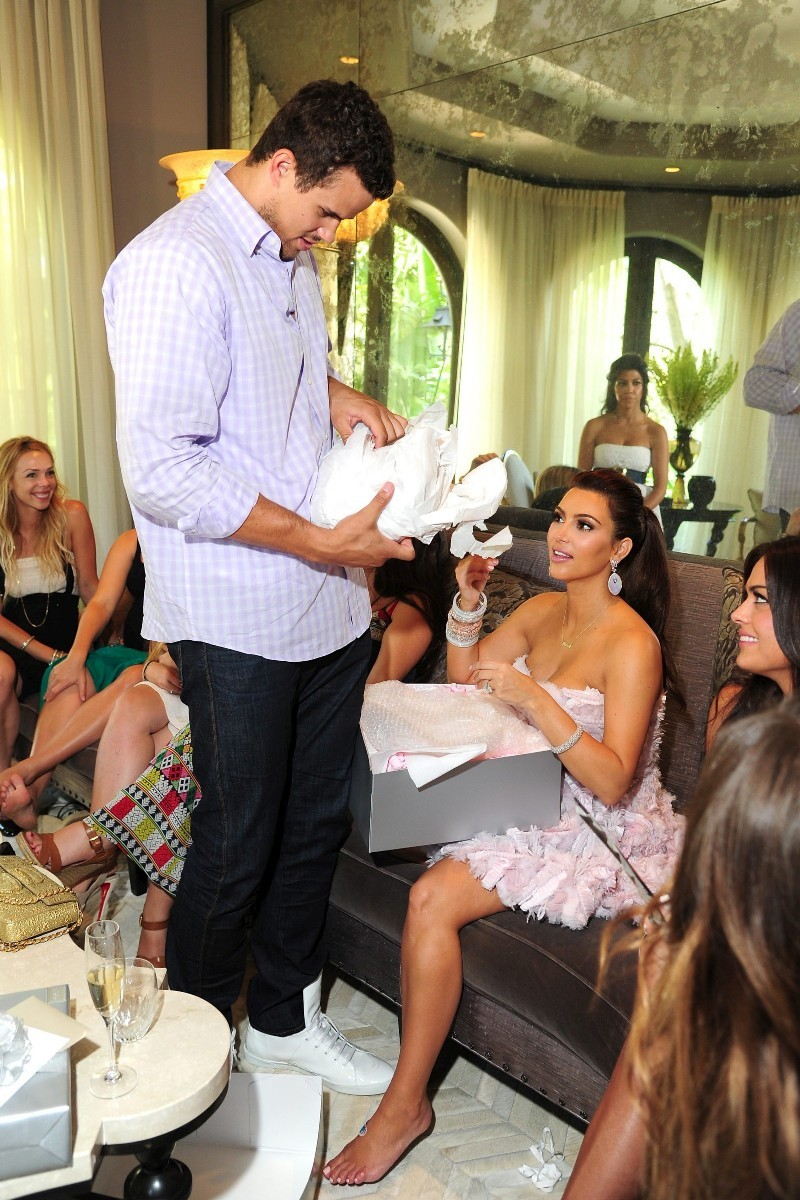 kim kardashian in her bridal shower party